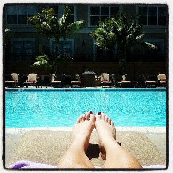 thelist selfies pool legs selfie