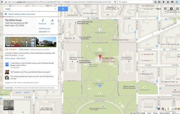 white house google maps