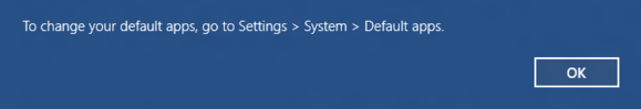 windows 10 default program go to settings