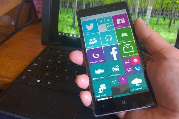 windows 10 mobile phone home screen