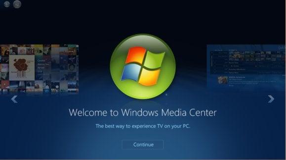 Software Windows Media Center