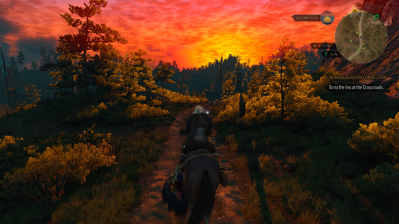 witcher 3 sunset 4k