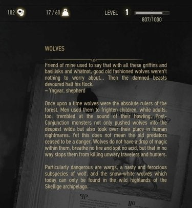 The Witcher bestiary