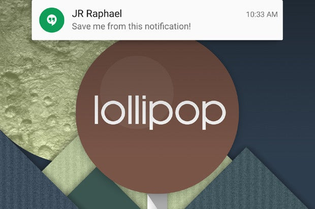 Android Lollipop Heads-Up Notification