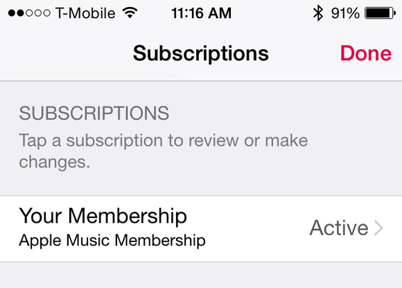 apple music subscriptions