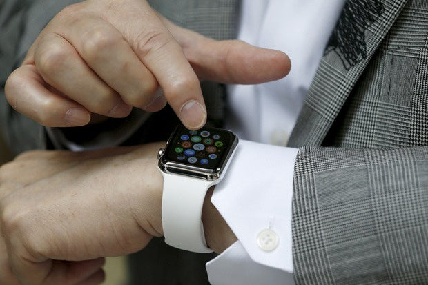 apple watch businessman