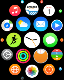 apple watch home screen icons different sizes reduce motion off