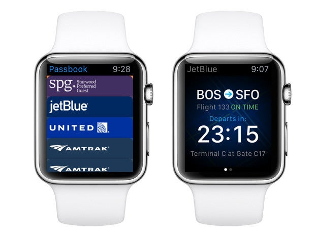 apple watch travel jetblue passbook