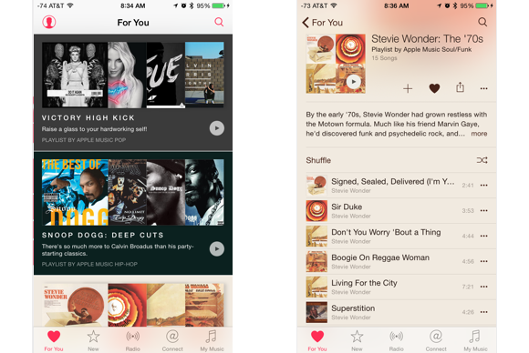 apple music guide for you results 2up