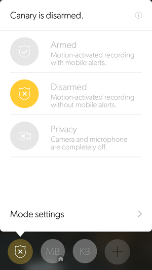 Canary home-security system