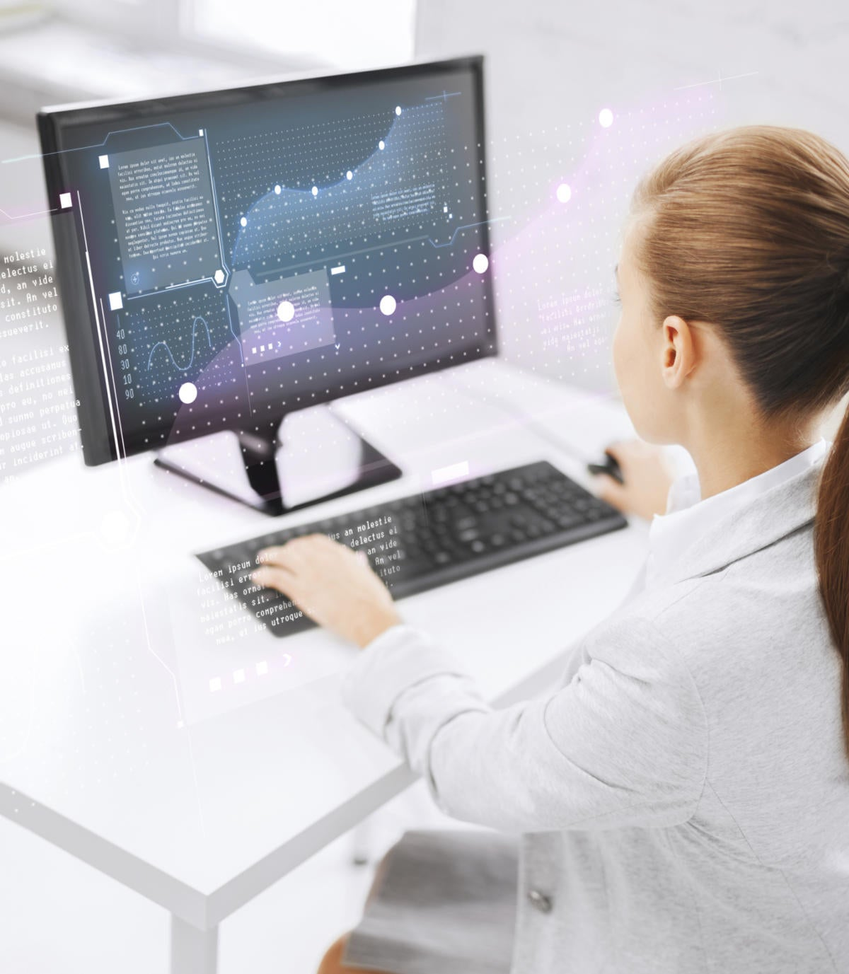businesswoman computer