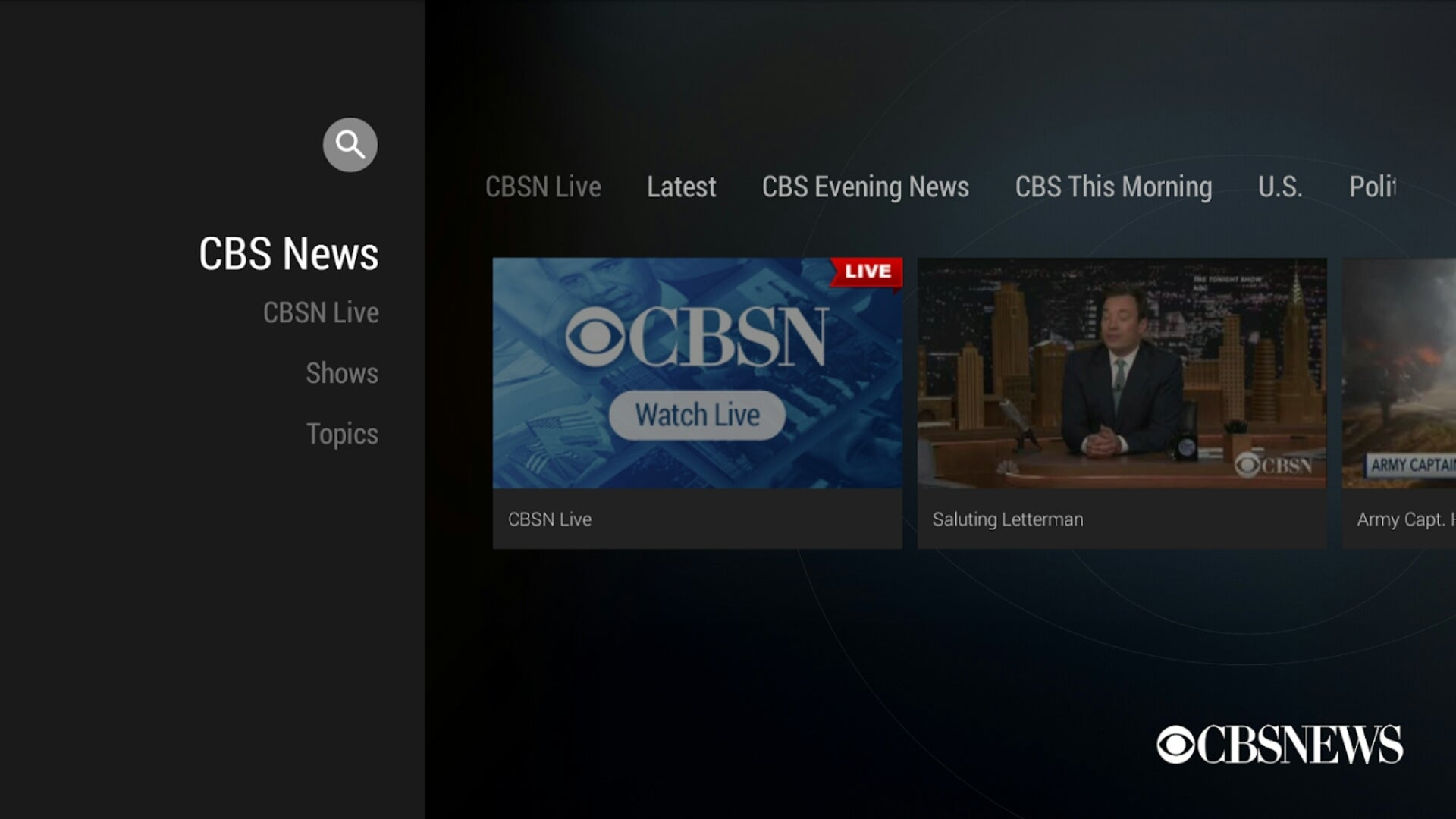 cbs news offers a live round the clock video feed with anchored coverage and it tends to focus on actual stories instead of talking heads