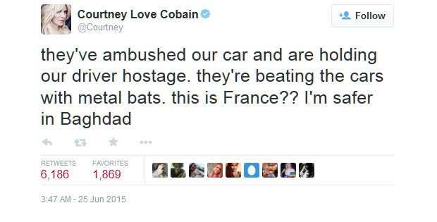 Courtney Love on Uber France riot
