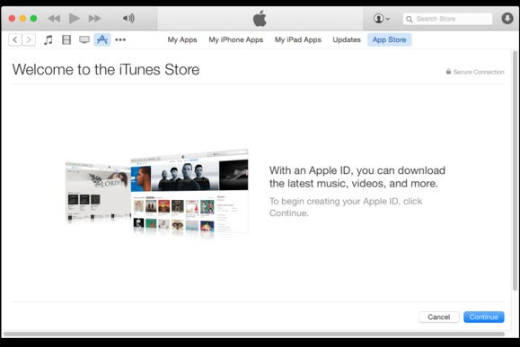 create apple id itunes
