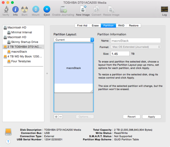 disk utility resize partition