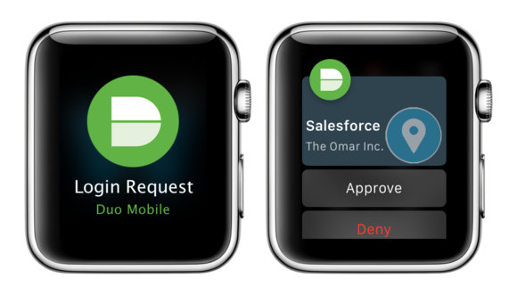 duo security apple watch