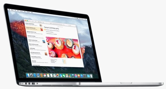 el capitan notes macbook