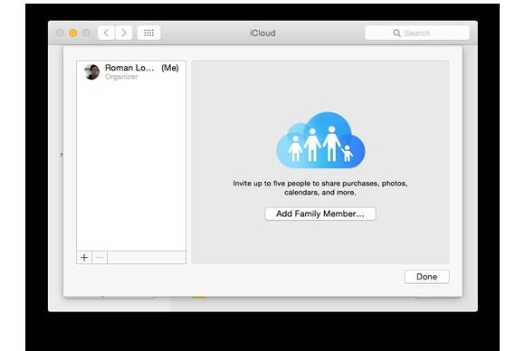 family sharing add member
