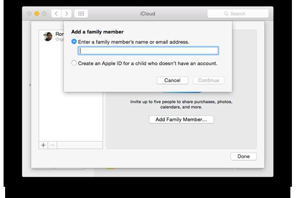 family sharing add member2