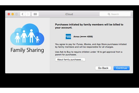 family sharing credit card