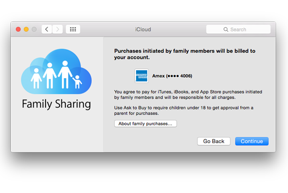 family sharing credit card