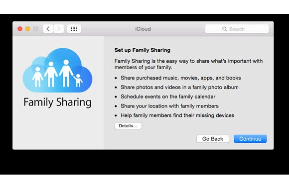 family sharing setup intro