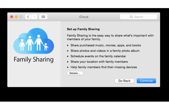 family sharing setup intro