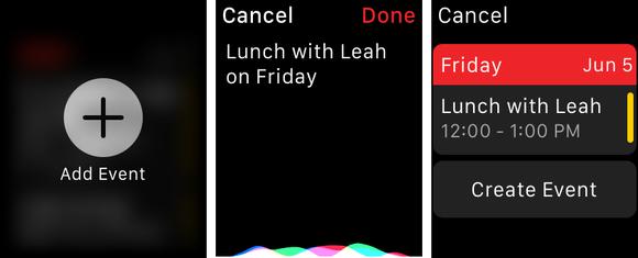 fantastical2 apple watch adding event