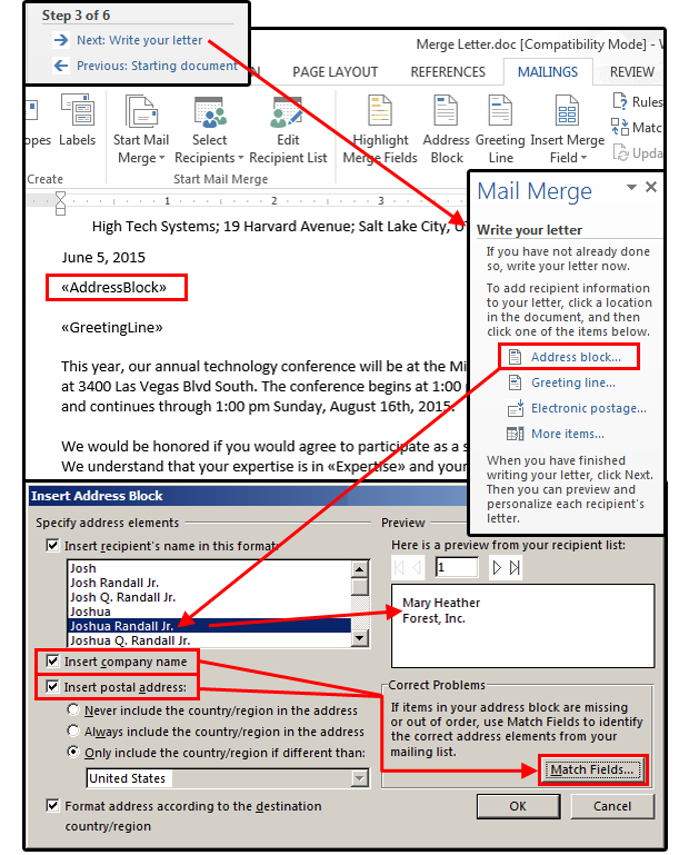 Mail Merge master class: How to merge your Excel contact database