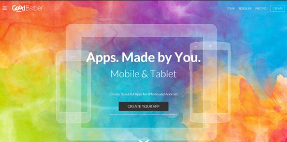 goodbarber create your app step 1