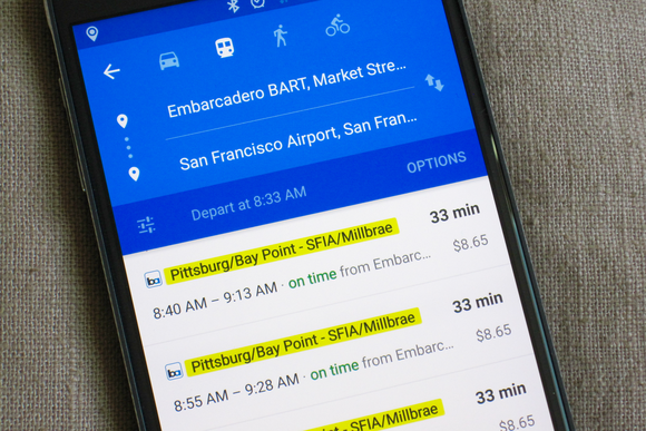 Google Maps now shows realtime transit updates in three US