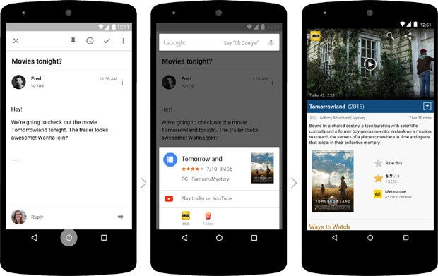 Google Now on Tap: Movie