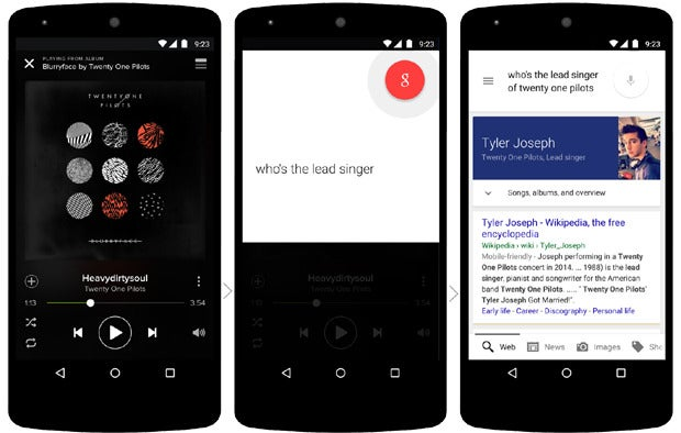 Google Now on Tap: Music