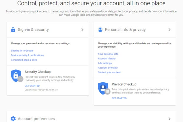 google privacy hub