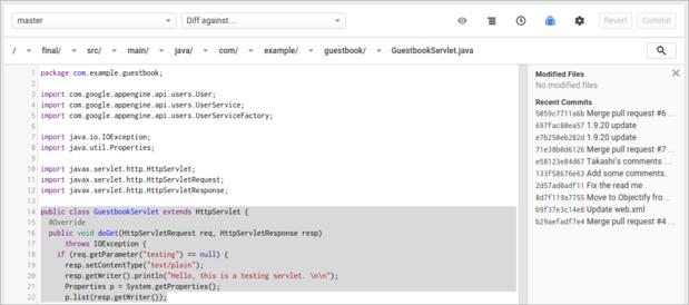 google source code editor edit