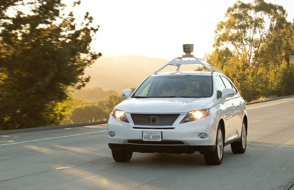 google self driving car lexus