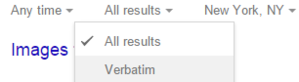 googleverbatim