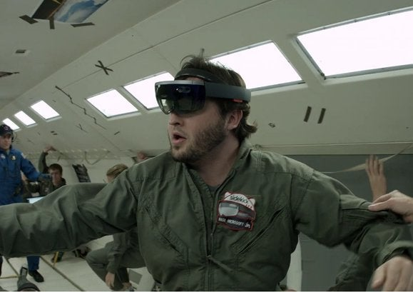 Microsoft hololens in space 2