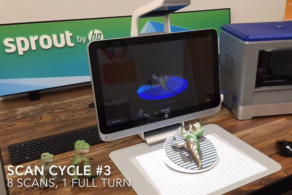 hp sprout 3d capture turntable