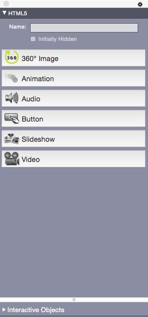 QuarkXPress 2015 html5 palette