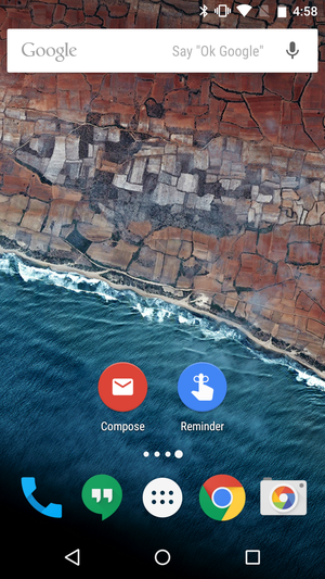 Inbox adds compose and reminder home screen shortcuts ...
