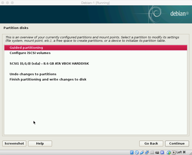 install debian linux 8.1 virtual machine 13