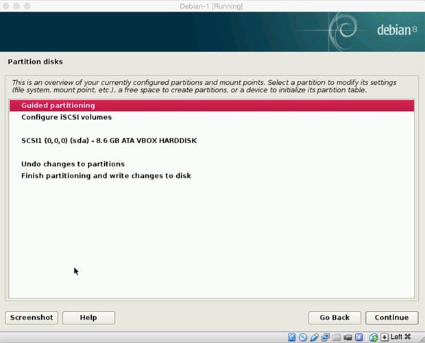 install debian linux 8.1 virtual machine 13
