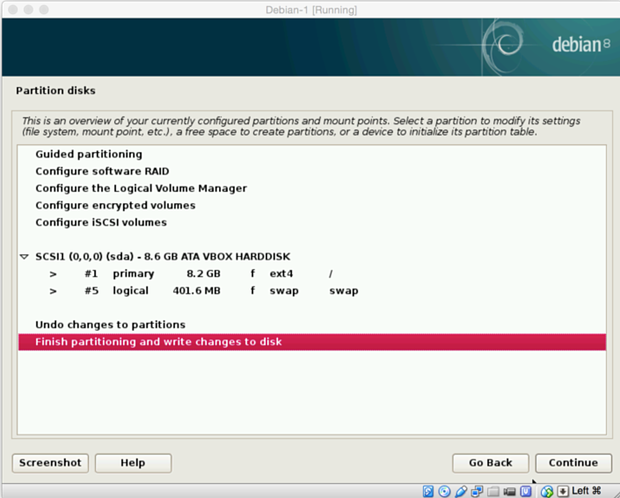 install debian linux 8.1 virtual machine 17