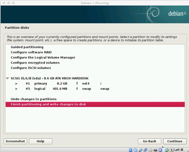 install debian linux 8.1 virtual machine 17