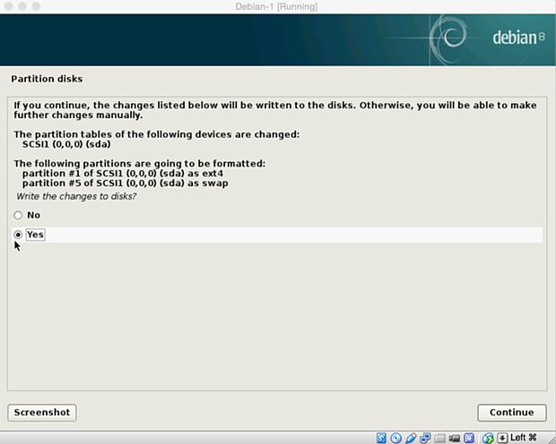 install debian linux 8.1 virtual machine 18
