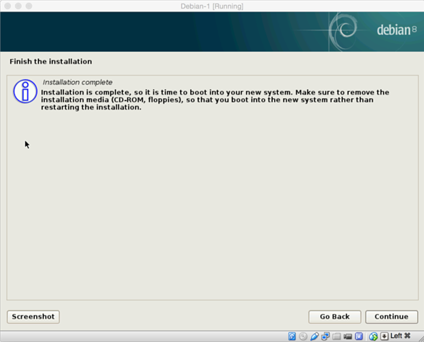 install debian linux 8.1 virtual machine 22