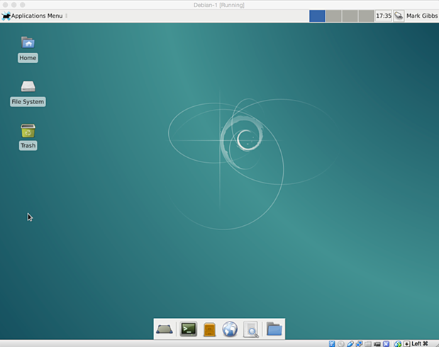 install debian linux 8.1 virtual machine 25