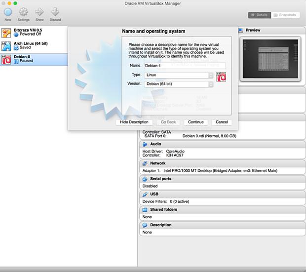install debian linux 8.1 virtual machine 6
