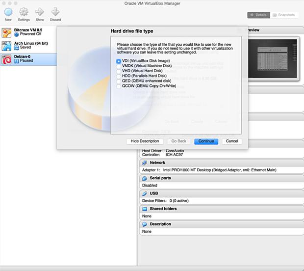 install debian linux 8.1 virtual machine 7
